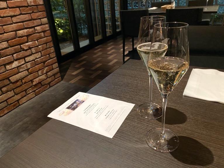 東京ベイ潮見プリンスホテルのディナー:ディナーの内容(ウェルカムドリンク)
