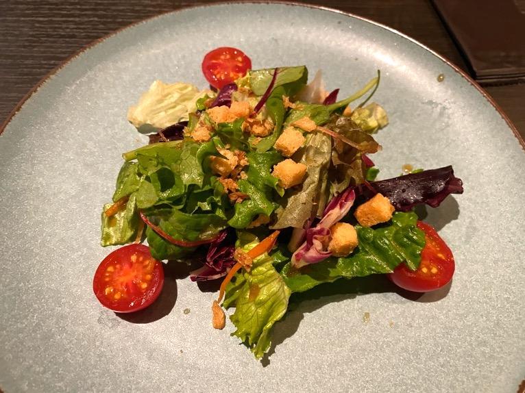 東京ベイ潮見プリンスホテルのディナー:ディナーの内容(サラダ)