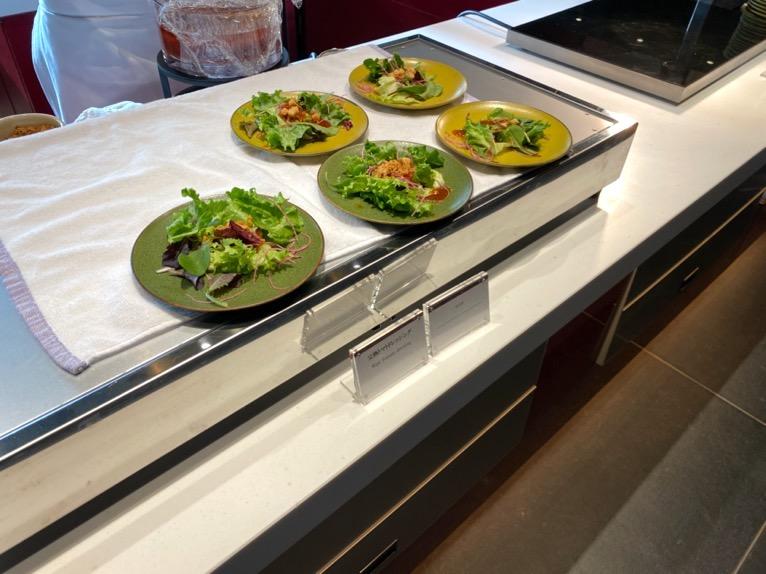 東京ベイ潮見プリンスホテルの朝食:ビュッフェの内容(サラダ)