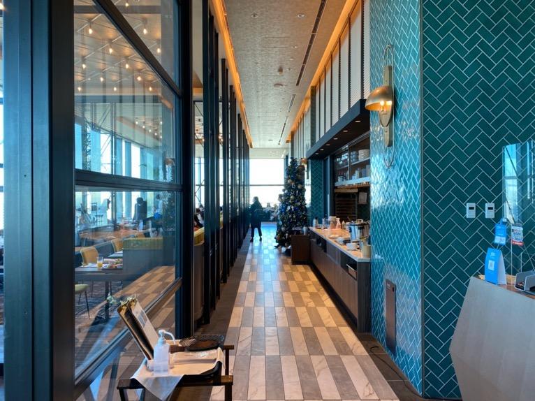 三井ガーデンホテル豊洲ベイサイドクロスの朝食:レストランのアプローチ