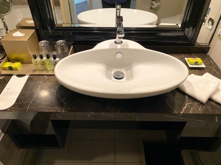 インターコンチネンタル東京ベイ 宿泊記「客室」:洗面台