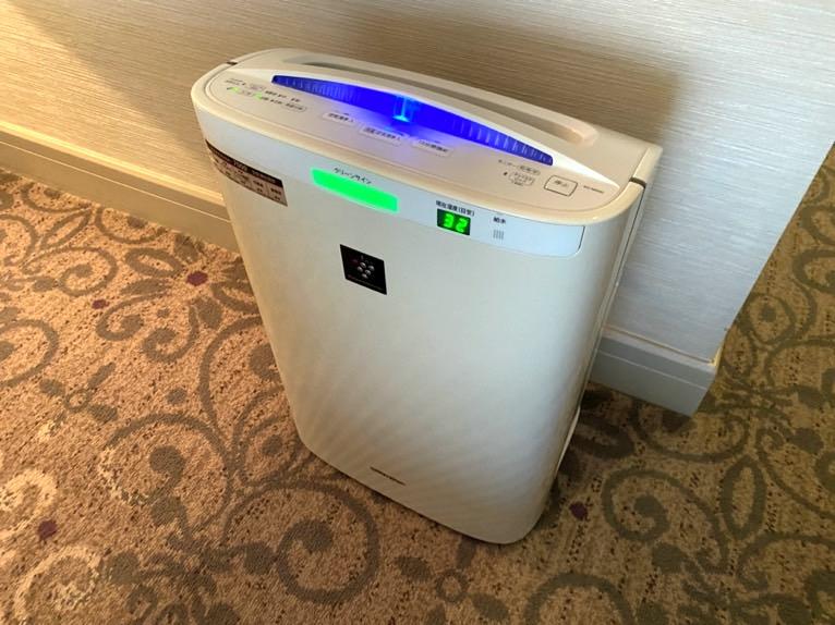 インターコンチネンタル東京ベイ 宿泊記「客室」:加湿空気清浄機