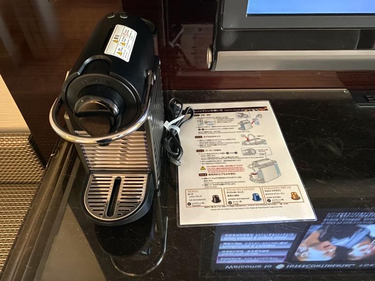 インターコンチネンタル東京ベイ 宿泊記「客室」:コーヒーメーカー