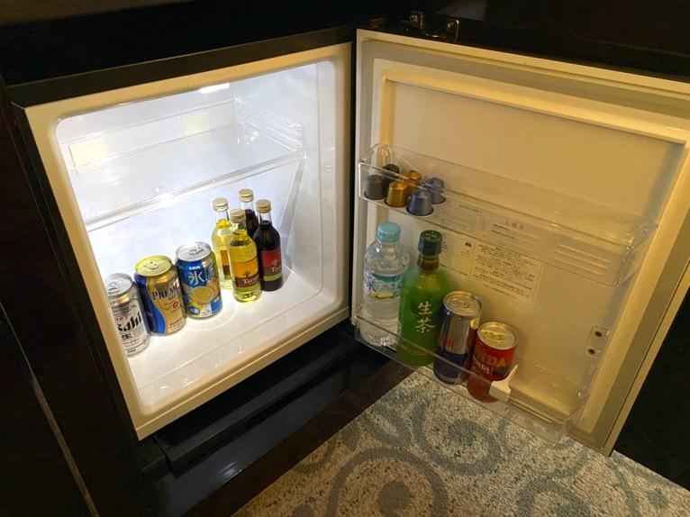 インターコンチネンタル東京ベイ 宿泊記「客室」:冷蔵庫