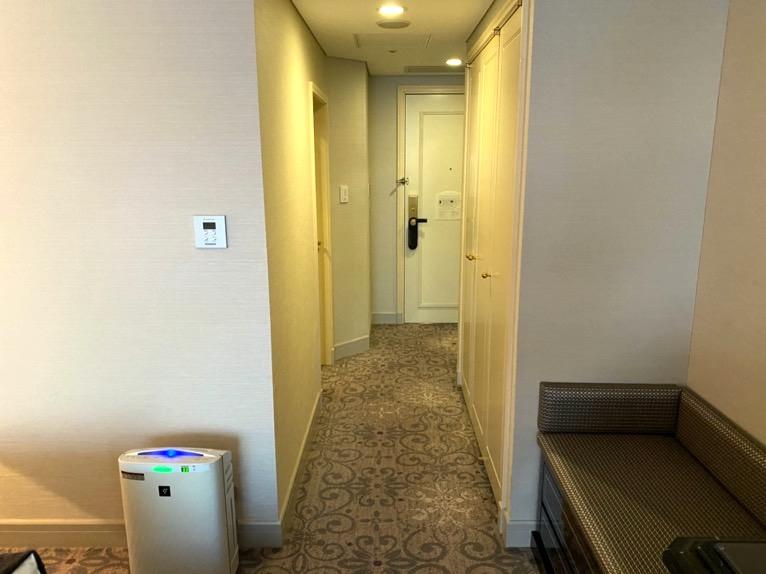 インターコンチネンタル東京ベイ 宿泊記「客室」:玄関