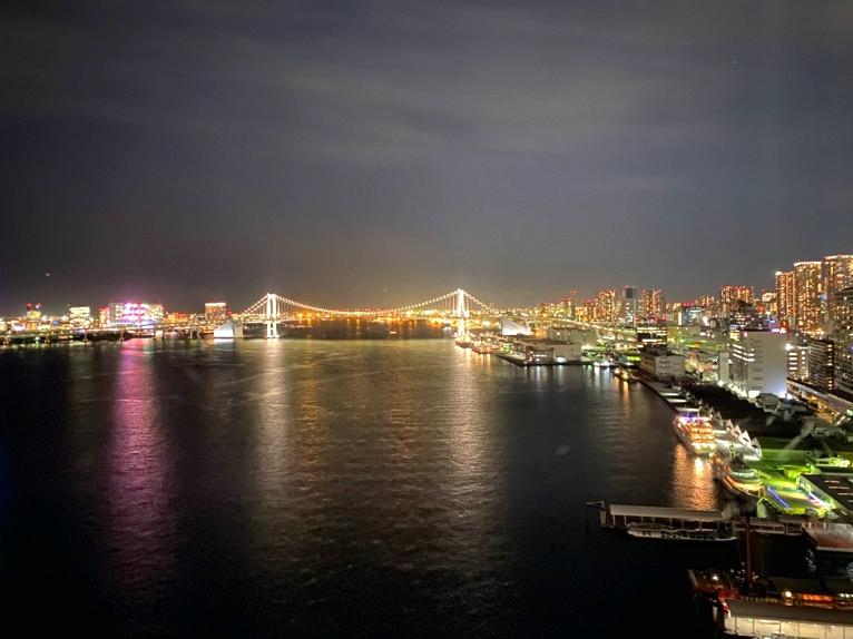 インターコンチネンタル東京ベイ 宿泊記「客室」:眺望(夜)