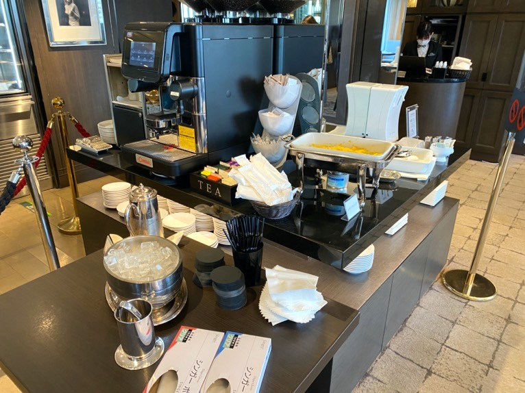 インターコンチネンタル東京ベイのクラブラウンジ:朝食のドリンク(コーヒー)