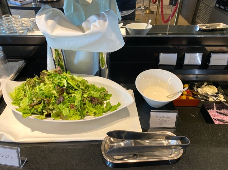 インターコンチネンタル東京ベイのクラブラウンジ:朝食のフード(サラダ)