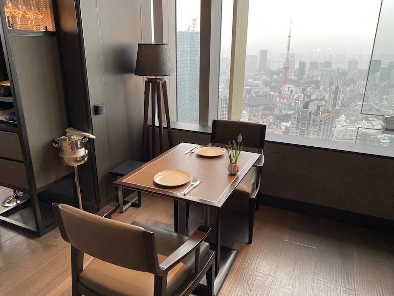 ザ・リッツ・カールトン東京の朝食:「タワーズ」の眺望