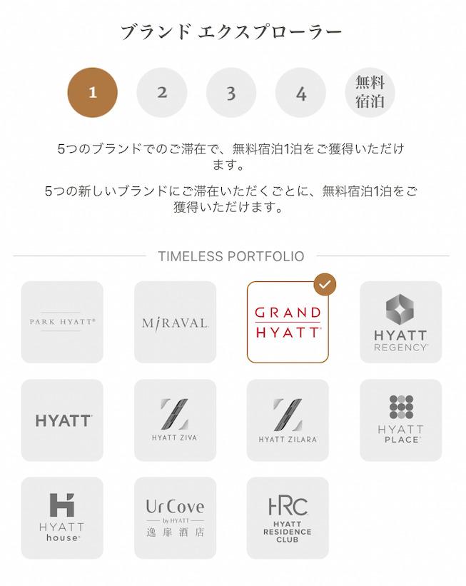 ワールドオブハイアット(World of Hyatt)のブランドエクスプローラー