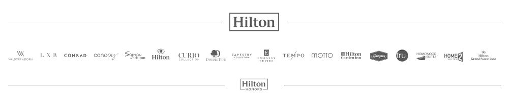 ヒルトンオナーズ(Hilton Honors)に参加のホテルブランド