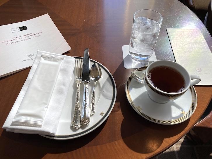帝国ホテル東京「アフタヌーンティー」のウェルカムドリンク
