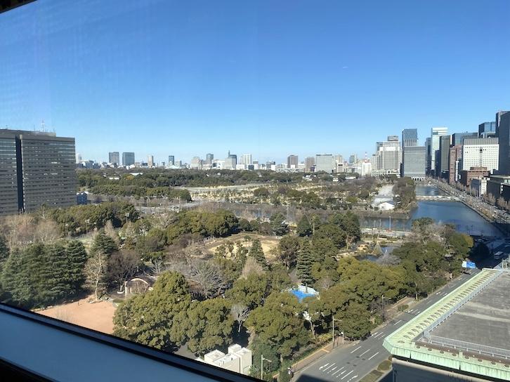 帝国ホテル東京「インペリアル カフェラウンジ アクア」の眺望