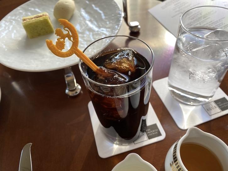 帝国ホテル東京「アフタヌーンティー」のアイスコーヒー