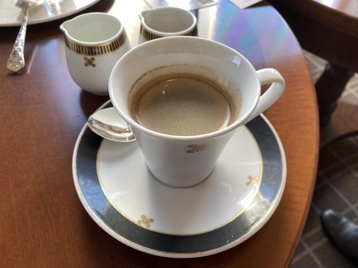 帝国ホテル東京「アフタヌーンティー」のコーヒー
