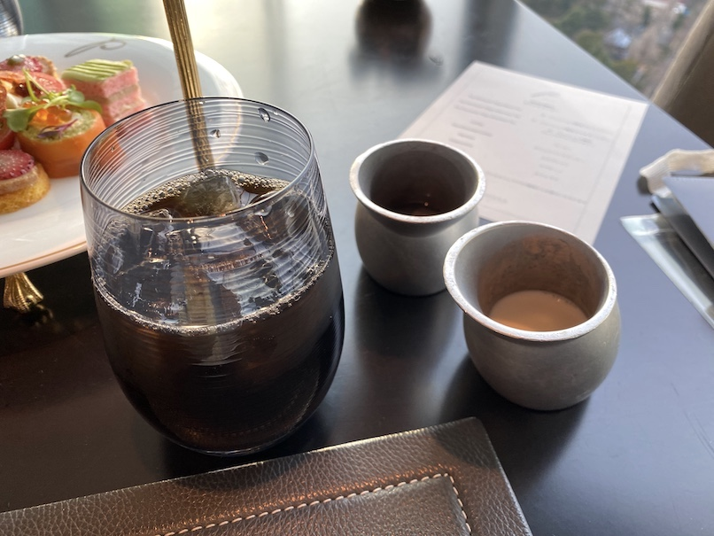 ザ・ペニンシュラ東京「アフタヌーンティー」:ドリンク(アイスコーヒー)