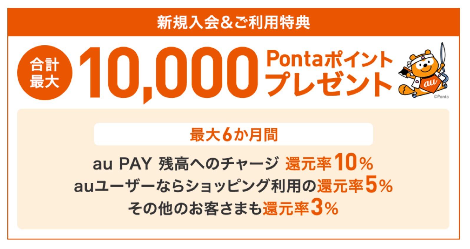 au Payカードの新規入会&利用特典