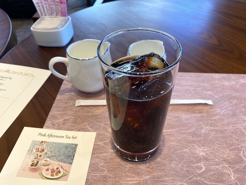 グランドニッコー東京 台場のアフタヌーンティー:コーヒー(アイス)