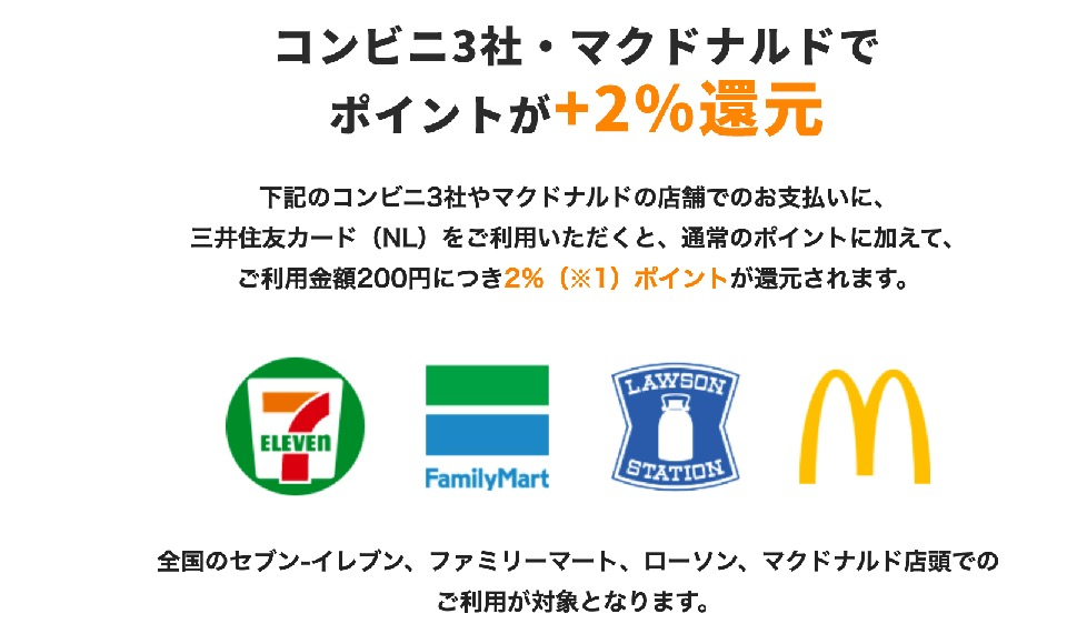 三井住友カード(NL):ポイント還元率