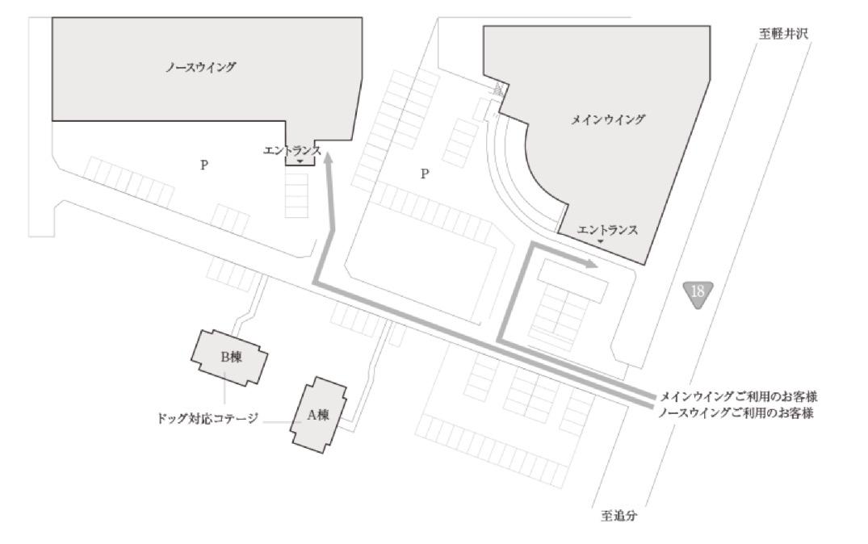 軽井沢マリオットホテル:敷地図