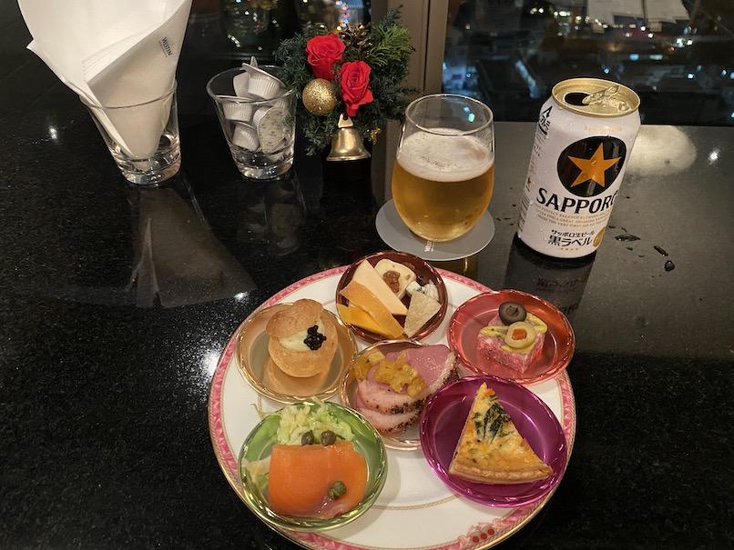 ウェスティンホテル東京:クラブラウンジ(カクテルタイムのオードブル)