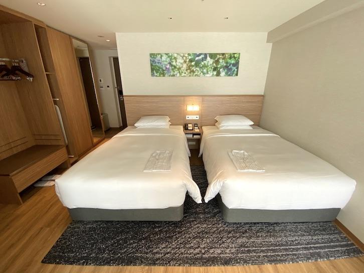 軽井沢マリオットホテル:客室(ベッド)