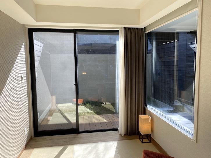 軽井沢マリオットホテル:客室(掃き出し窓)