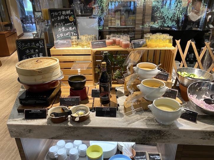 軽井沢マリオットホテルの朝食:ビュッフェの提供内容(ドリンク1)