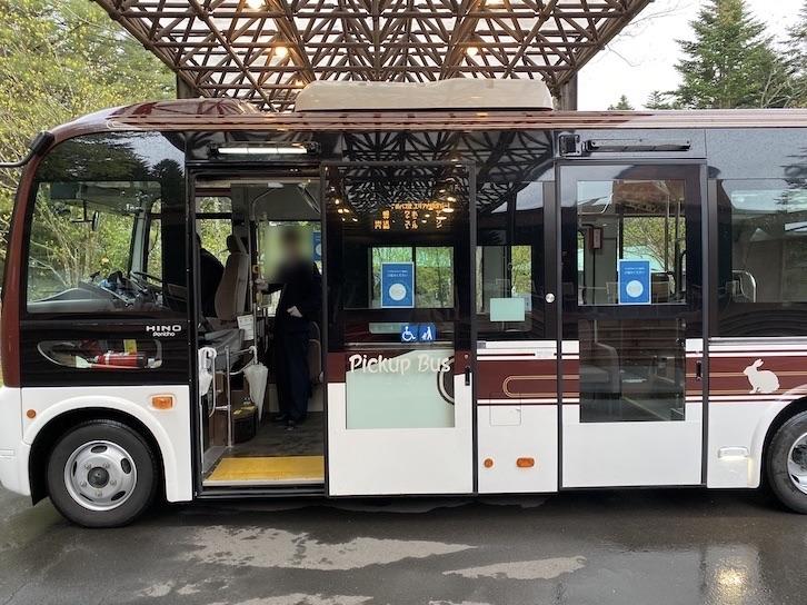 ザ・プリンス軽井沢:ピックアップバスの外観