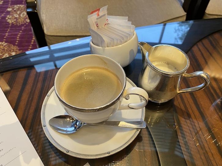 ウェスティンホテル東京のアフタヌーンティー:ドリンク(コーヒー)