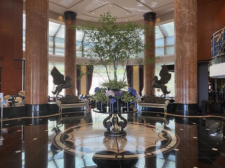 ウェスティンホテル東京のロビー:全体像