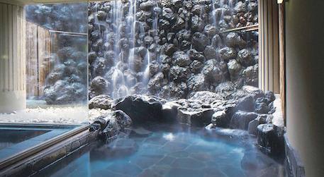 軽井沢マリオットホテル:温泉大浴場・露天風呂(外湯)