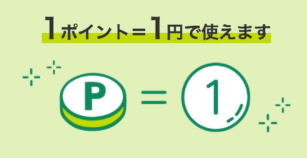 Vポイントの価値(1ポイント=1円)