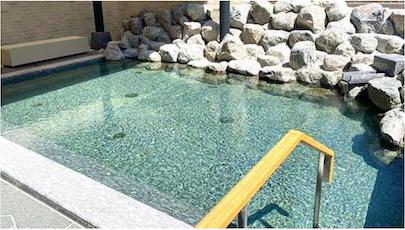 ザ・プリンス軽井沢:モミジホットスプリングの外風呂(露天風呂)