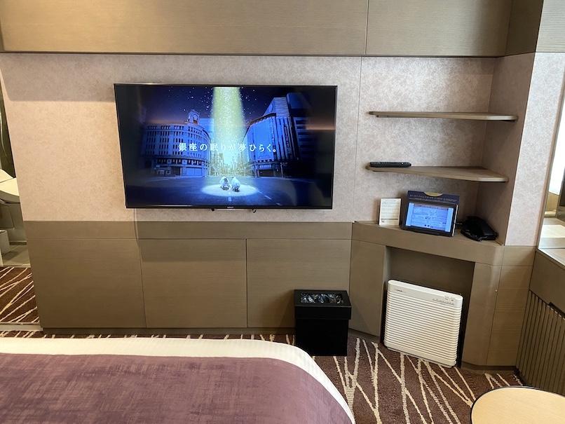 レムプラス銀座の客室:TVボード
