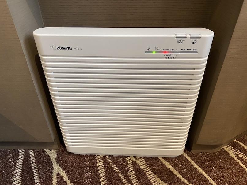レムプラス銀座の客室:空気清浄機