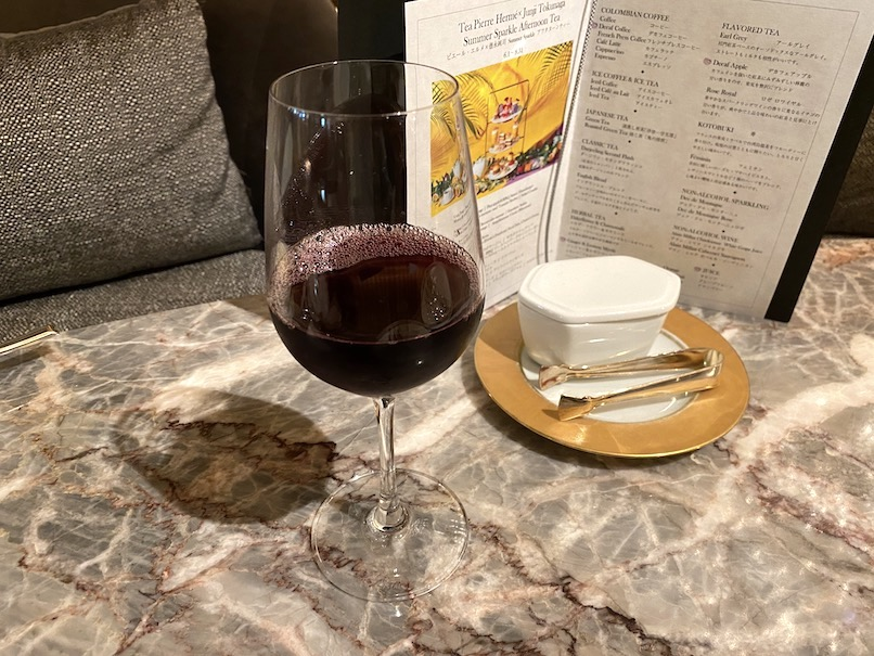 インターコンチネンタル東京ベイのアフタヌーンティー:ドリンク(ノンアルコールワイン)
