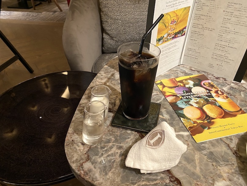 インターコンチネンタル東京ベイのアフタヌーンティー:ドリンク(アイスコーヒー)