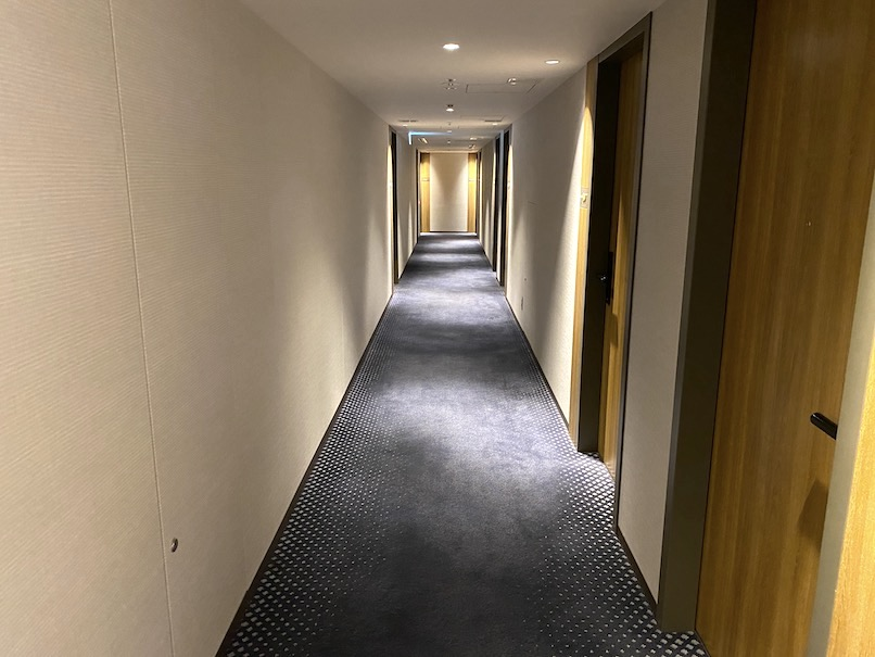 ザロイヤルパークキャンバス銀座8:ホテルの内廊下2