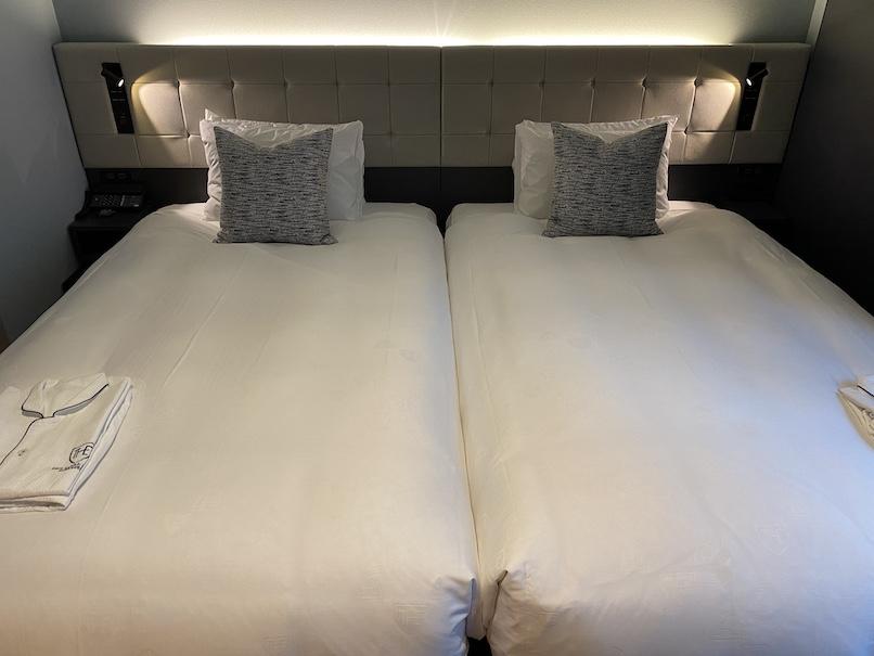 ザロイヤルパークキャンバス銀座8の客室:ベッド