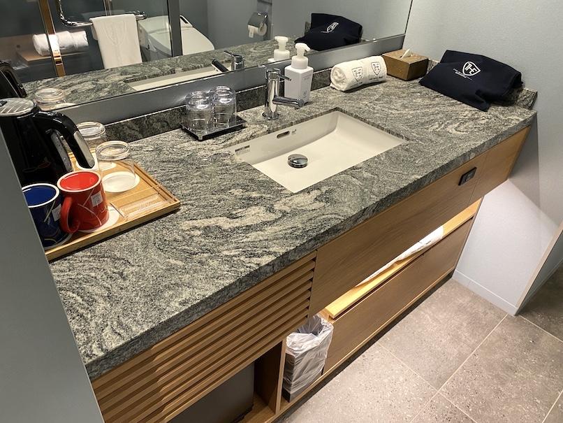 ザロイヤルパークキャンバス銀座8の客室:洗面台