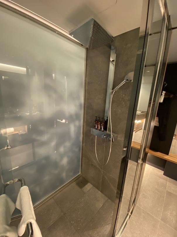 ザロイヤルパークキャンバス銀座8の客室:シャワーブース