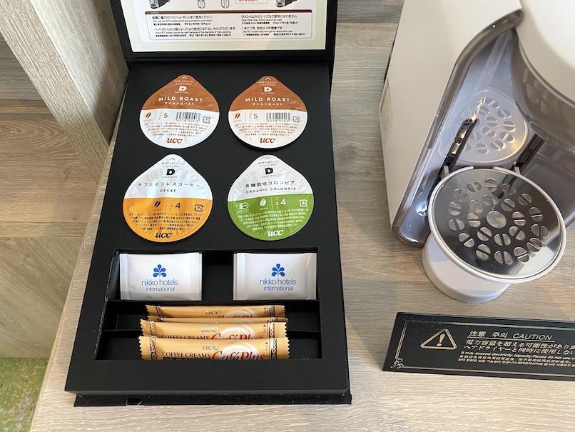 グランドニッコー東京ベイ舞浜の客室:コーヒーポッド