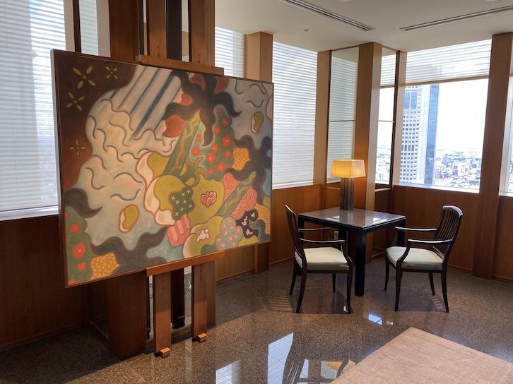 パークハイアット東京 宿泊記:ホテルのロビー(アート&チェア)