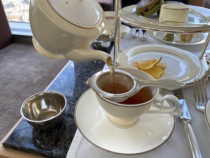 パークハイアット東京のアフタヌーンティー:ドリンク(紅茶)