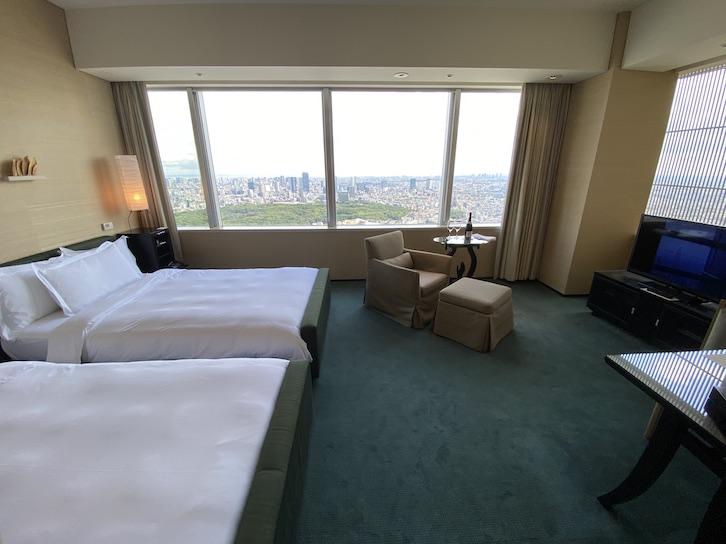パークハイアット東京 宿泊記:客室(寝室1)