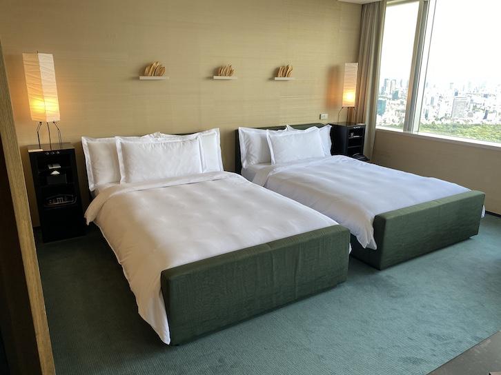 パークハイアット東京 宿泊記:客室(ベッド)