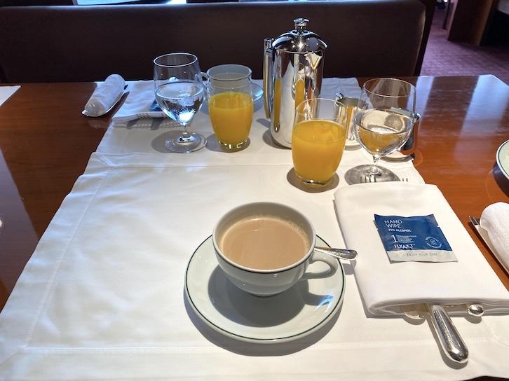 パークハイアット東京の朝食:実食(ドリンク)