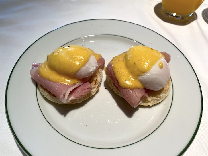 パークハイアット東京の朝食:実食(卵料理:エッグベネディクト)