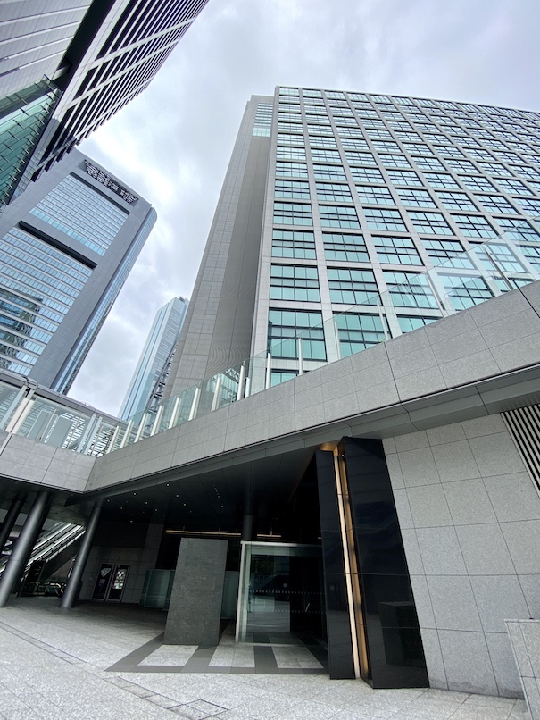 コンラッド東京:ホテルの外観